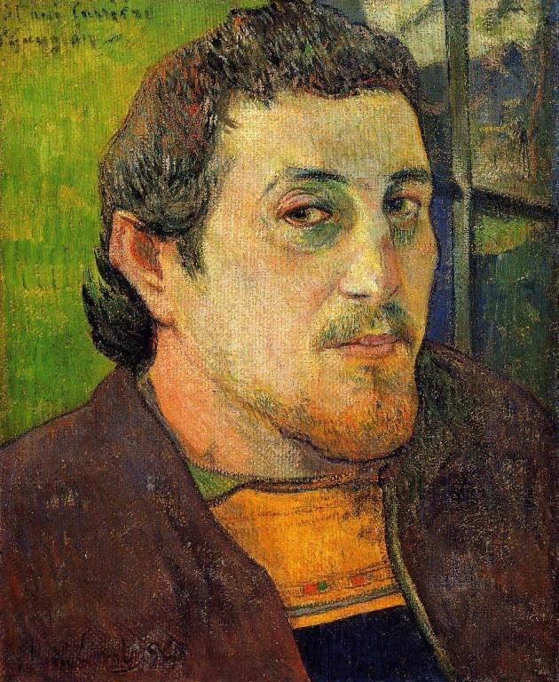 Self-Portrait-at-Lezaven,Paul-Gauguin