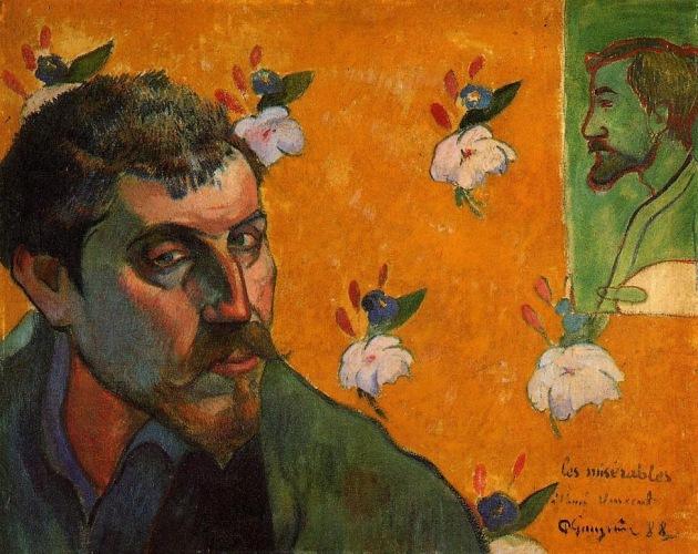 Self-Portrait-Les-Miserables,Paul-Gauguin