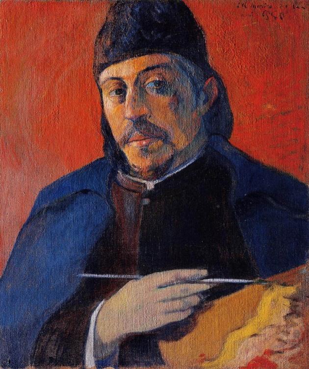 Self-Portrait-with-Palette,Paul-Gauguin