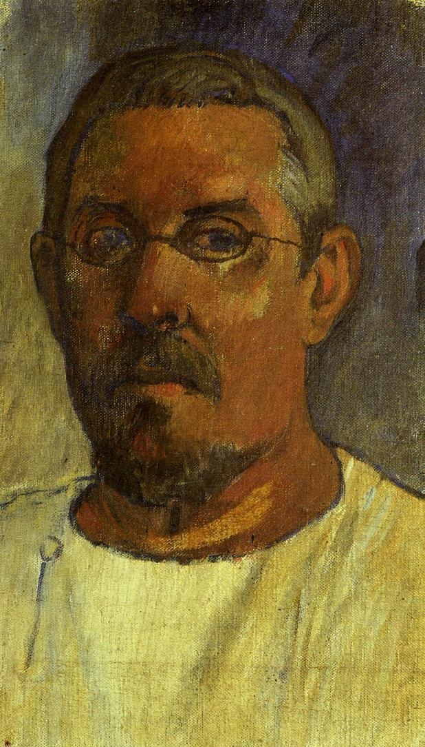 Self-Portrait-with-Spectacles,Paul-Gauguin